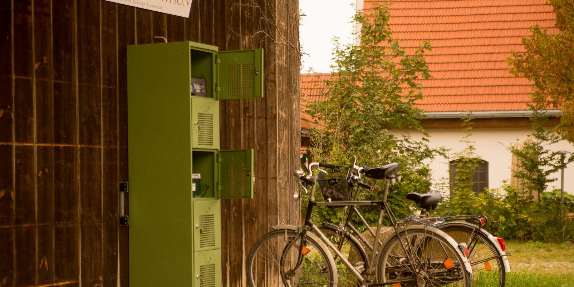 E-Bike Ladestation im Gut Schloss Sulzemoos