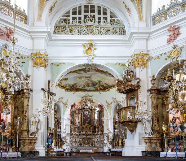 Innenansicht Kirche St. Alto und St. Birgitta Altomünster