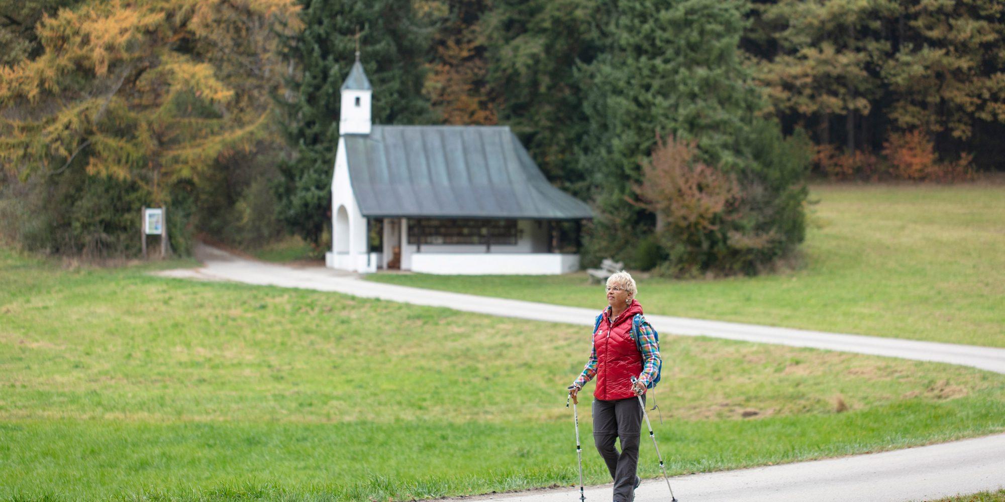 Wanderaufnahme an der Geiselwieskapelle