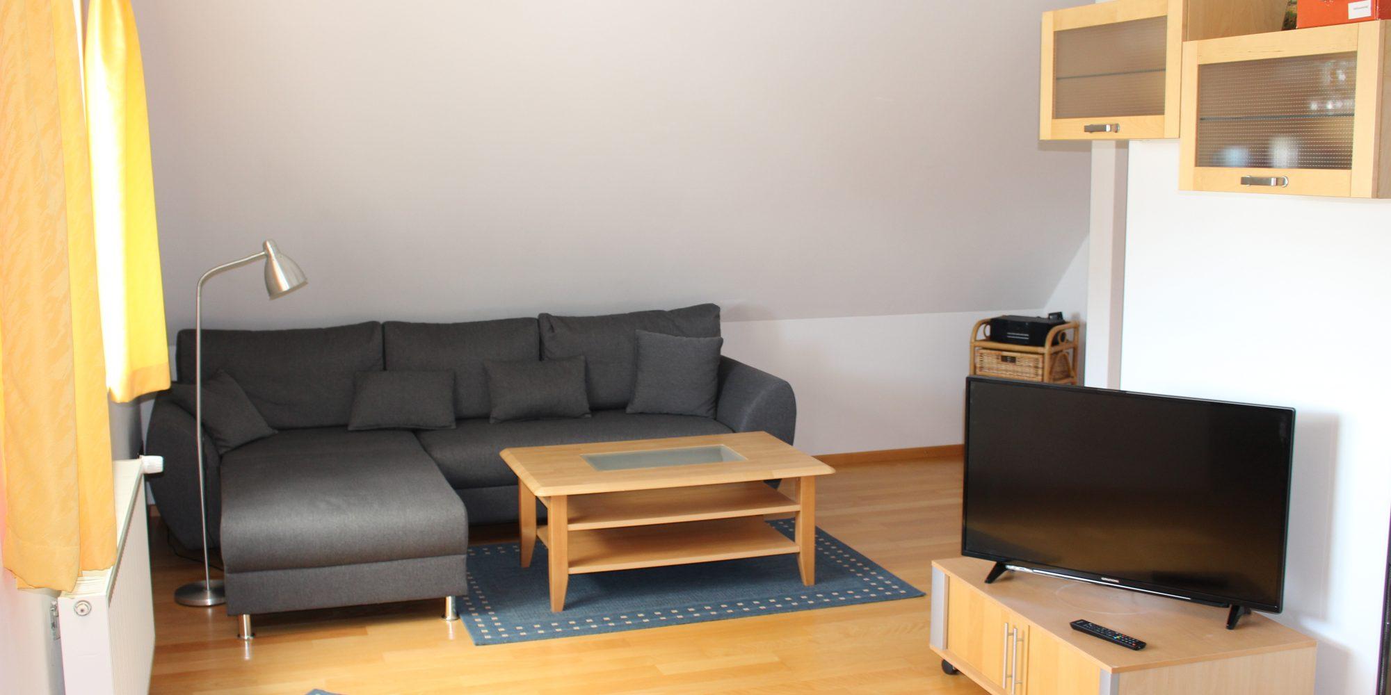 Wohnzimmer Ferienwohnung Knauschner