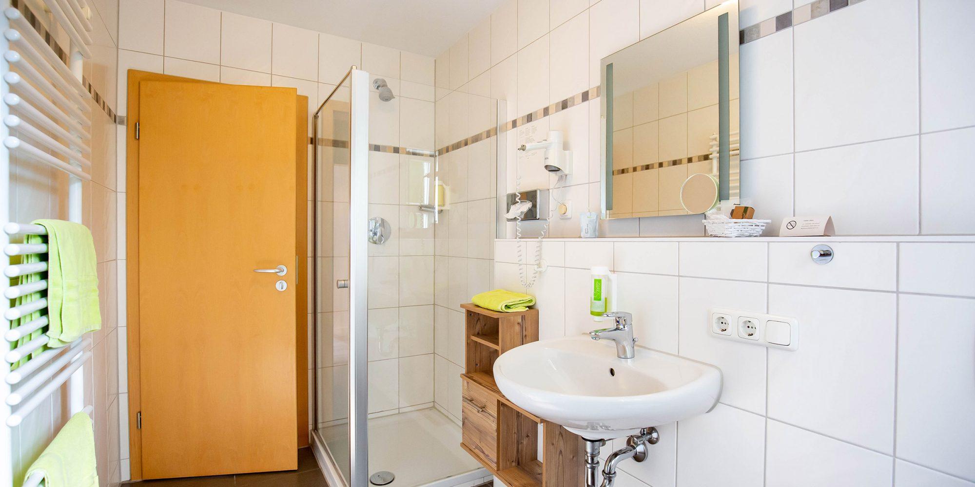 Badezimmer Gasthaus und Hotel Göttler